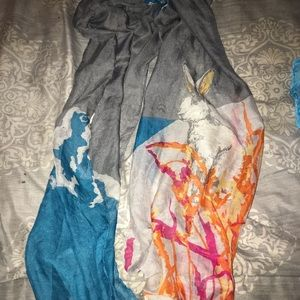 Bunny Rabbit Easter Spring Scarf